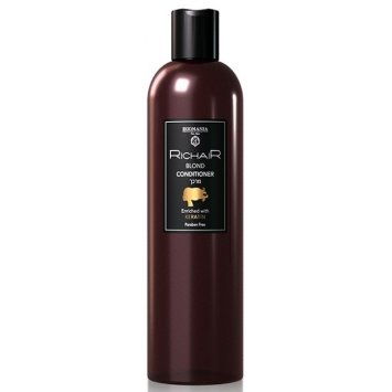 Кондиционер для обесцвеченных и осветлённых волос с Кератином 400 мл Richair Keratin Blond Conditioner EGOMANIA / Эгомания