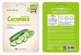 Маска для лица с экстрактом огурца 1 шт S+miracle Cucumber Essence Mask / LS Cosmetic Co