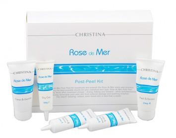 Набор для постпилингового ухода 5 препаратов Rose de Mer Post Peel kit | Christina