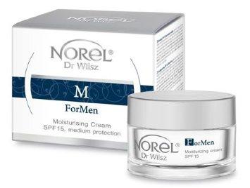 Увлажняющий крем с SPF 15 для ухода за мужской кожей 50 мл ForMen - Moisturizing cream medium protection, SPF 15  Norel Dr. Wilsz / Норель доктор Вилш