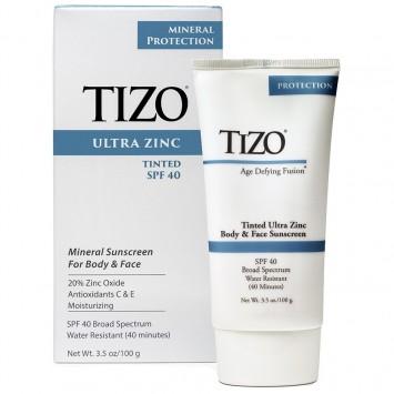 Крем солнцезащитный для лица и тела с оттенком 100 гр Ultra Zinc SPF 40 Tinted TiZO / Тизо
