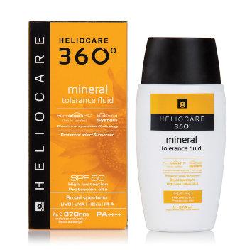 Солнцезащитный минеральный флюид для чувствительной кожи SPF 50, 50 мл HELIOCARE 360º Mineral Tolerance Cantabria Labs / Кантабрия Лабс