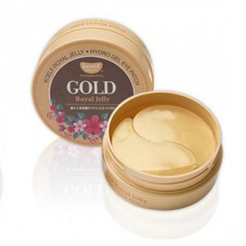 Гидрогелевые патчи для области вокруг глаз с натуральным экстрактом пчелиного маточного молочка и коллоидным золотом 60 шт Royal Jelly Hydrogel Eye Patch / Koelf