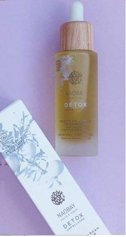 Аргановое масло для лица 30 мл ECOCERT DETOX LINE cosmos bio detox argan oil NAOBAY / Наобэй