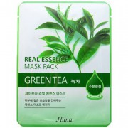 Тканевая маска с зеленым чаем, 25 мл, Real Essence Mask Pack - Green Tea / Juno