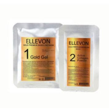 Маска альгинатная, двухкомпонентная, моделирующая, с золотом и коллагеном (50 мл+4,5 мл), (1000 мл+100 мл) Gold Premium Modeling Mask Ellevon / Эллевон
