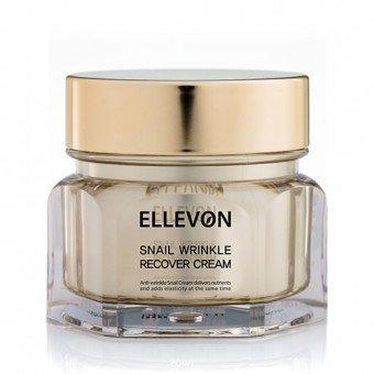 Анти-возрастной крем с экстрактом улитки 100 мл Snail Wrinkle Recover Cream Ellevon / Эллевон