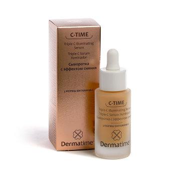 Сыворотка с эффектом сияния / 3 формы витамина С 30 мл C-Time Triple-C Illuminating Serum Dermatime / Дерматайм