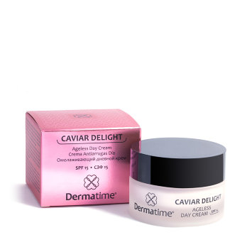 Омолаживающий дневной крем, СЗФ15, 50 мл CAVIAR DELIGHT Ageless Day Cream SPF 15 Dermatime / Дерматайм