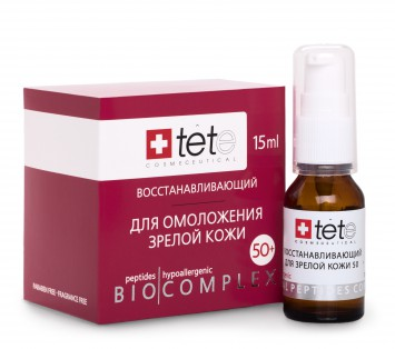 Биокомплекс восстанавливающий для интенсивного восстановления зрелой кожи 50+ 15 мл   TETe Cosmeceutical