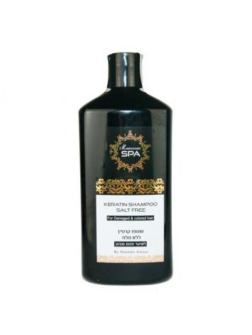 Кератиновый шампунь для поврежденных волос 500 мл Moroccan SPA / Shemen Amour