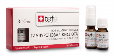 Гиалуроновая кислота + Коллаген и Эластин  3 Х 10 мл | TETe Cosmeceutical  / Hyaluronic Acid + Collagen&Elastin