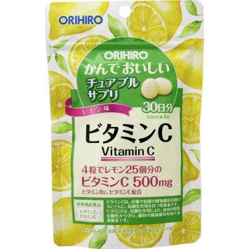 БАД Витамин С со вкусом лимона «Орихиро», 120 таблеток / ORIHIRO
