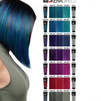 Набор кератиновых безаммиачных красителей прямого действия для всех типов волос 8 шт х 200 мл KeraDirect / KIS