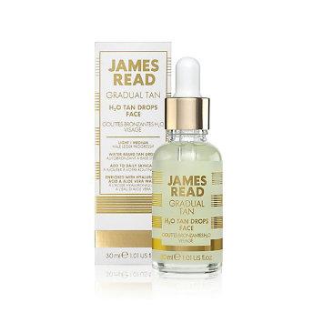 Капли-концентрат - освежающее сияние H2O TAN DROPS FACE 30мл / JAMES READ