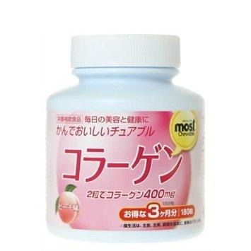 БАД Коллаген со вкусом персика, 180 таблеток / ORIHIRO