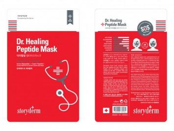 Шелковая маска Dr/ Healing Peptide Mask 25 мл / Storyderm