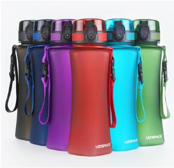 Фигурная бутылка UZSPACE \ ЮЗСПАЙС для воды, коктейлей и других пищевых жидкостей 500 мл. / UZSPACE