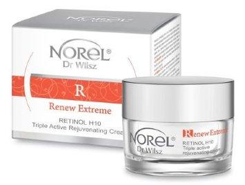 Активный, омолаживающий крем с ретинолом, витамином С и фитиновой кислотой Renew Extreme 10 мл, 50 мл Retinol H10 - Triple active rejuvenating c. Norel Dr. Wilsz / Норель доктор Вилш