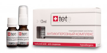 Гиалуроновая кислота + Антикуперозный комплекс  3 Х 10 мл | TETe Cosmeceutical / Hyaluronic acid + Anticouperose