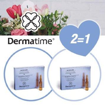 Набор ампул концентрата гликолиевой кислоты Концентрированная красота Dermatime / Дерматайм